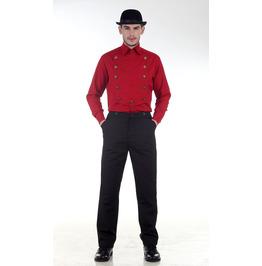 Steampunk Victorian Red Airship Shirt