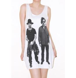 Johnny Depp Tim Burton White Tank Top Shirt Size S