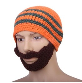 Crochet Beard Mustache Mask Warmer Ski Knit Hat Cap