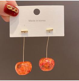New Temperament All-match Cherry Earrings Female Long Design Earrings