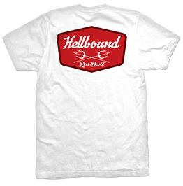 Hellbound Badge Short Sleeve White T-shirt