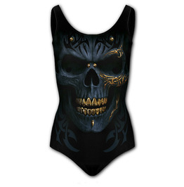 BLACK GOLD - Allover Scoop Back Padded Swimsuit