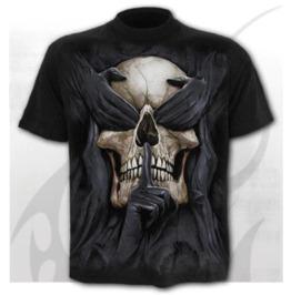 Men's 3D See No Hear No Speak No Evil Skull Print Short Sleeves T-shirts