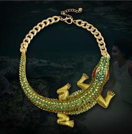 Punk Crocodile Necklace Clavicle Chain Halloween Accessories