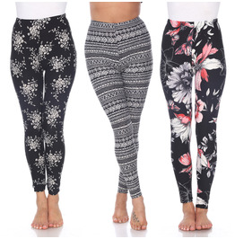Floral and Tribal Pack of 3 Leggings