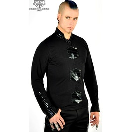 Cryoflesh Paragon Cyberpunk Edm Gothic Industrial Ribbed Cyber Ls Top Male