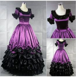 Lily`s Vintage Prom Gothic Retro Wedding Bridal Lolita Dress