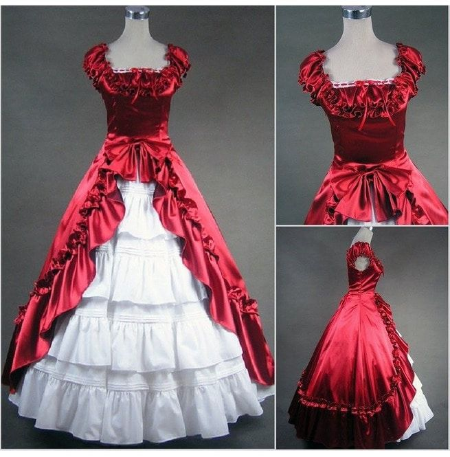 Used Plus Size Ball Gowns: Heidi`s Vintage Renaissance Medieval Royal House Ball