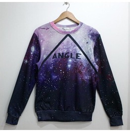 Purple Galaxy Angle Pattern Fashion Sweatshirt
