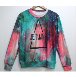 Galaxy Style Triangle Pattern Fashion Sweatshirt