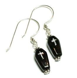 Black Vampire Coffin Earrings