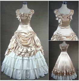 Nicole`s Vintage Retro Renaissance Medieval Duchess Ball Royal Castle Wedding Gown High Profile Society Aristocracy Bridal Dance Prom Dress