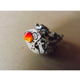"""Abrasias Fire"" Steampunk Ring Steampunk Jewelry"