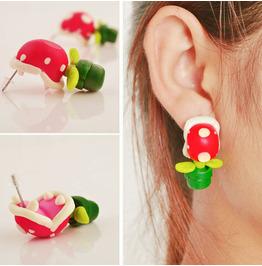 Halloween Three-dimensional Piranha Earrings