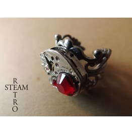 Redrum Steampunk Ring Steampunk Jewelry Steamretro