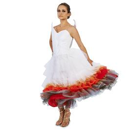 Flaming Winged Wedding Dress Adult Costume