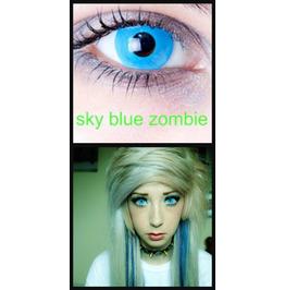 Skye Blue Halloween Contact Lenses