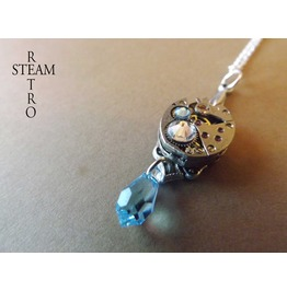 Aqua Marine Steampunk Necklace Steamretro