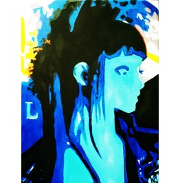blue fay painting