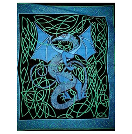 Celtic Knotwork Dragon Tapestry