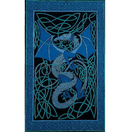 Celtic Dragon Tapestry - Twin Size