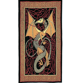 Celtic Knot Dragon Tapestry - Twin Size