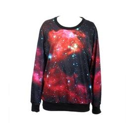 Galaxy Print Hoodie Sweater