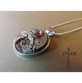 Vintage Rose Steampunk Necklace