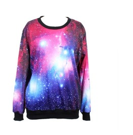 Sky Galaxy Print Fashion Funny Sweatshirts