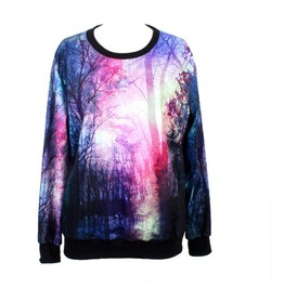Unique Galaxy Print Fashion Hoodie Sweater