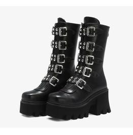 Punk Platform Rear Zipper Martin Boots