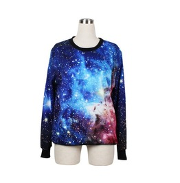 Cool Galaxy Sky Print Fashion Hoodie Sweater