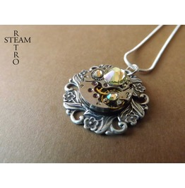 House York Steampunk Rose Necklace Steampunk Jewelry