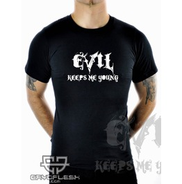 Cryoflesh Evil Keeps Young Cyber Industrial Shirt Male