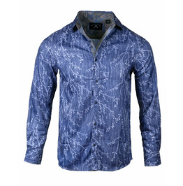 Streetwear/Streetwear Lighting Print Button-Up Shirt
