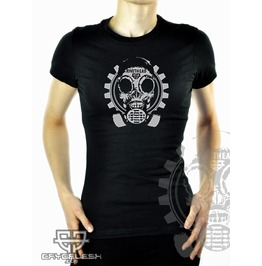 Cryoflesh Rivethead Cyber Industrial Gothic Shirt Fem