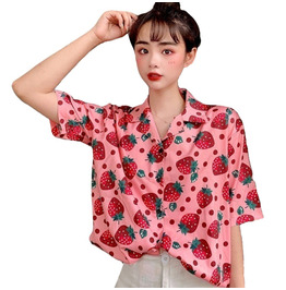 Kawaii Strawberries Blouse