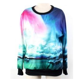 Galaxy Cloud Space Print Fashion Hoodie Sweater