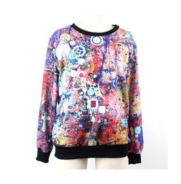 Graffiti Print Fashion Hoodie Sweater