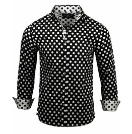 Streetwear Button-Up Polka Dots Regular Fit Shirt