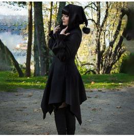 Punk Irregular Swing Skirt Design Sense Personalized Sweater Dress Hooded
