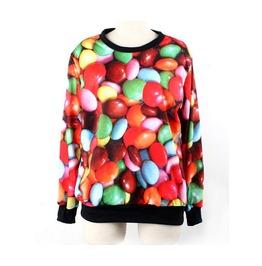 Cute Chocolate Bean Print Fashion Funny Sweatshirts