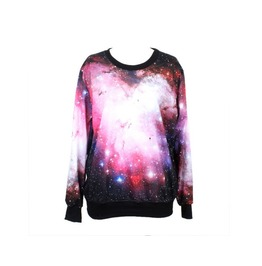 Galaxy Print Fashion Hoodie Sweater