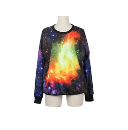 Shining Galaxy Space Print Fashion Hoodie Sweater