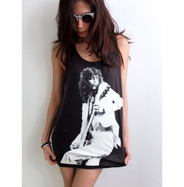 Jimmy Page Led Zeppelin Classic Rock Tank Top M