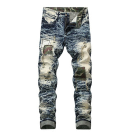 Fall/winter Jeans Ripped Patch Large Size Men's Jeans
