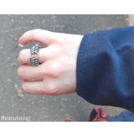Desecrate BDSM O Ring / Chain Mail Armor Ring