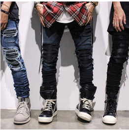 High Street Ripped Distressed Slim Fit Jeans Men's Trousers