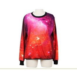 Red Galaxy Magic Print Fashion Sweatshirts