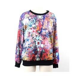 Street Graffiti Fashion Print Unisex Hoodie Sweater